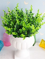 Недорогие -10 шт. Имитация воды трава 7 вилка среднего эвкалипта искусственный цветок орнамент искусственный цветок спальня исследование украшения