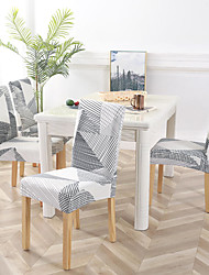 cheap -Chair Cover Geometric / Classic / Contemporary Reactive Print Polyester Slipcovers