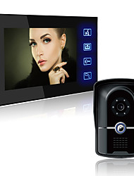 cheap -806FG11 Wired Built in out Speaker 7 inch Hands-free 800*480 Pixel One to One video doorphone