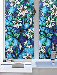 cheap -Window Film & Stickers Decoration Patterned Geometric / Character PVC(PolyVinyl Chloride) Window Sticker
