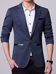 cheap -Men's Suits Notch Standard Fit Single Breasted One-button Solid Colored Polyster