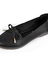 cheap -Women's Flats Flat Heel Bowknot PU Minimalism Summer Black / Beige