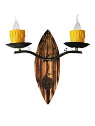 Недорогие -настенное бра в стиле рустик ретро / деревенское / настенное освещение / настенное освещение&усилитель; бра магазины / кафе / кабинет / офис металлический настенный светильник