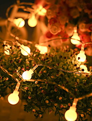 cheap -Globe String Lights 9.8ft 20 LED Waterproof Warm White Starry Fairy Lights for Outdoor Indoor Home Garden Bedroom Patio Wedding Party Fence Christmas Tree Gift