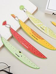 Недорогие -Симпатичные арбуз дракон пластиковые фрукты форма правителей творческий 15 см дети студент школьные канцтовары правитель подарочные материалы