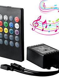 cheap -New 20 Key Music IR Controller Black Sound Sensor Remote For RGB LED Strip High Quality