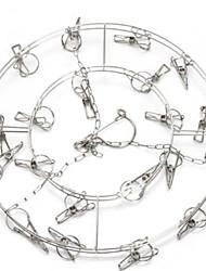 Недорогие -Нержавеющая сталь Круглый Новый дизайн / Cool Главная организация, 2pcs Вешалки