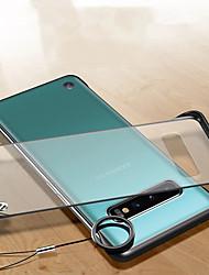 Недорогие -Прозрачный корпус без рамки для Samsung Galaxy S10 Plus S10 E S10 тонкий жесткий матовый прозрачный чехол