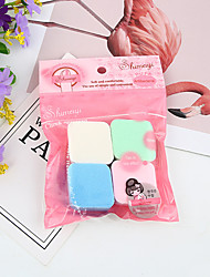 cheap -1 pcs Odor Free Washable Women Quadrate Sponge Makeup Sponges Breathability Soft Safety Cosmetic Puff For Cosmetic Face Simple Portable Daily Daily Makeup Beauty Tools Blende