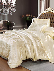 cheap -European Modal Lace Satin Jacquard Thick Sheet 4 Piece Bedding Set