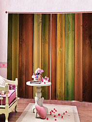 cheap -Colorful Home Decor Waterproof Mouldproof Polyester Bath Curtain Heat / Sound Insulation Blackout Curtains for Dedroom / Living Room