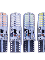 cheap -10pcs T10 W5W led strobe flash silicone gel light 194 168 3014 24LED LED blink Light Bulb Clearance Lights 12V 2 model Lights