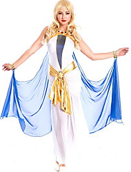 cheap -Cleopatra Costume Women's Fairytale Theme Halloween Performance Cosplay Costumes Theme Party Costumes Women's Dance Costumes Denim Split Joint