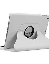 Недорогие -Кейс для Назначение Apple iPad New Air (2019) / iPad Air / iPad 4/3/2 Поворот на 360° / Защита от удара / Авто Режим сна / Пробуждение Чехол Однотонный Твердый Кожа PU / iPad Pro 10.5 / iPad (2017)
