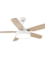 cheap -QINGMING® Circle / Mini Ceiling Fan Ambient Light Painted Finishes Wood Metal Mini Style, Tri-color 110-120V / 220-240V Warm White+White