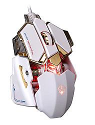 Недорогие -litbest g10 rgb игровая мышь USB-кабель 10 кнопок 4 цвета подсветки 4000 настраиваемый dpi оптический геймер компьютер