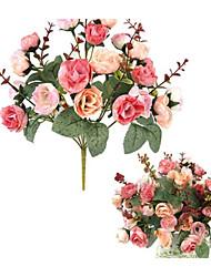 Недорогие -Иу pho_09s8 [Юго-Восточная Азия] искусственный цветок 21 розы украшение дома домашняя вечеринка свадебные украшения 1 роза красная