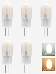 cheap -5pcs 1 W LED Bi-pin Lights 90 lm G4 T 5 LED Beads SMD 2835 New Design Warm White White 220-240 V 12 V