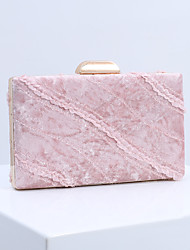 cheap -Women's Sashes / Ribbons Polyester / Alloy Evening Bag Solid Color Black / Blushing Pink / Royal Blue