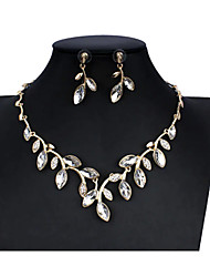 cheap -Women's Black Blue Red Bridal Jewelry Sets Link / Chain Leaf Trendy Cute Elegant Earrings Jewelry Black / Red / Blue For Christmas Wedding Party Engagement 1 set