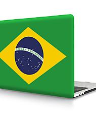Недорогие -твердая оболочка из пвх с бразильским флагом для MacBook Pro Air Retina чехол для телефона 11/12/13/15 (a1278-a1989)
