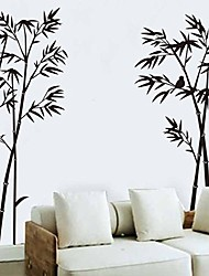 cheap -OneHouse Black Bamboo Wall Decals Home Room Wall Decor Sticker Removable