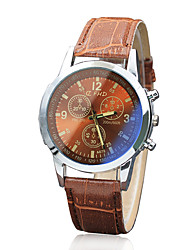 cheap -Men's Dress Watch Quartz Formal Style Leather Black / Brown Casual Watch Analog Casual - Brown Black / White White / Brown One Year Battery Life