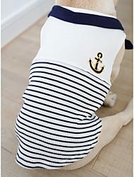 abordables -Chien Tee-shirt Vêtements pour Chien Rouge Bleu Costume Coton Cosplay XS S M L