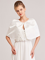 cheap -Sleeveless Satin Wedding / Party / Evening Women's Wrap With Ruching / Button Capelets