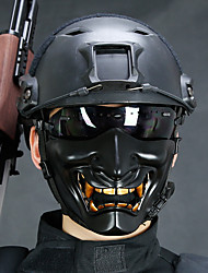 cheap -Mask Inspired by Samurai Scary Movie Black White Halloween Carnival Adults' Men's Women's