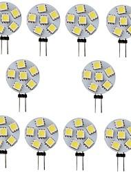 cheap -10pcs 1 W LED Bi-pin Lights 120 lm G4 6 LED Beads SMD 5050 White Warm Yellow 12 V
