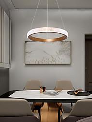 cheap -1-Light LED® Circle Geometrical Chandelier Ambient Light Painted Finishes Aluminum LED  Cool 110-120V 220-240V Warm White Cold White