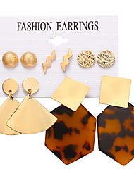 cheap -Women's Stud Earrings Drop Earrings Hoop Earrings Vintage Style Ball Heart Rate Bohemian European Gold Plated Earrings Jewelry Gold For Party Carnival Holiday Club Bar 6 Pairs