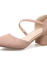 cheap -Women's Heels Chunky Heel Suede Fall / Spring & Summer Black / Green / Red