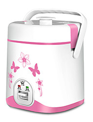 cheap -Electric Rice Cooker 1.2 L Single Portable Multi-function Durable for 1 - 2 person Aluminum Alloy Outdoor Camping / Hiking Traveling Picnic White Pink