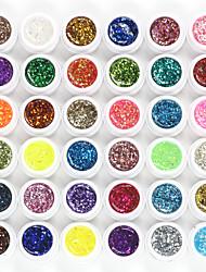 cheap -Glitter nail UV nail glue adhesive 36 color suits optional to keep lasting nail polish glue products