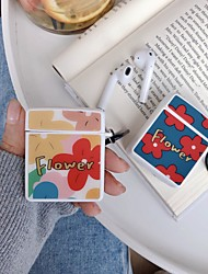cheap -AirPods Case  Water / Dirt / Shock Proof /Headphone Cartoon Solid color Protective Cover Hard shell Genuine Leather Portable For AirPods1 AirPods2  (AirPods Charging Case not included)