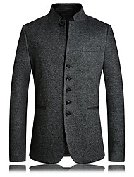 cheap -Men's Jacket Regular Solid Colored Daily Gray US32 / UK32 / EU40 US34 / UK34 / EU42 US36 / UK36 / EU44 US38 / UK38 / EU46