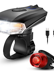 cheap -LED Bike Light Rechargeable Bike Light Set Rear Bike Tail Light Safety Light Mountain Bike MTB Bicycle Cycling Waterproof Multiple Modes Smart Induction Light Sensor 400 lm Rechargeable USB White