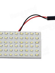 cheap -6W Car Light Panel 48 SMD LEDInterior BulbT10BA9S Adapter