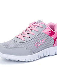 cheap -Women's Trainers / Athletic Shoes 2020 Summer / Fall Flat Heel Round Toe Casual Sweet Daily Outdoor Lace-up Slogan Tissage Volant Running Shoes / Walking Shoes Light Purple / Pink / Light Blue