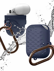 Недорогие -Высокое качество сплошной цвет мягкий силикон для Apple Airpods 2/1 защитный чехол простой стиль ударопрочный водонепроницаемый