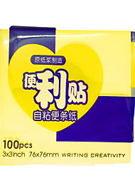 cheap -Natural Fiber Yellow 1pc Stickers & Tapes 7.6*7.6 cm