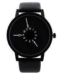 cheap -Dress Watch Leather Analog Black / Stainless Steel