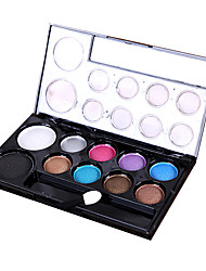 cheap -10 Colors Eyeshadow Eyeshadow Palette Adult Daily EyeShadow Lidded Portable Carrying Single Open Lid Women Portable Tool Case Casual / Daily Daily Makeup Cosmetic Gift
