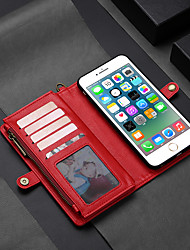 cheap -MEGSHI Case For Apple iPhone 11 / iPhone 11 Pro / iPhone 11 Pro Max Wallet / Card Holder / Flip Full Body Cases Solid Colored Hard PU Leather