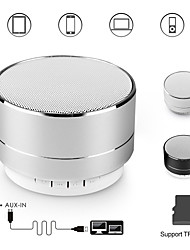 cheap -A10 bluetooth speaker metal mini portable speakers subwoof sound with microphone handsfree support TF card FM radio AUX