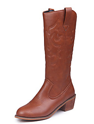 cheap -Westworld West Cowboy Shoes Adults' Women's Casual Christmas Halloween Carnival Festival / Holiday Leather Fabric Black / Coffee Women's Carnival Costumes Embroidered