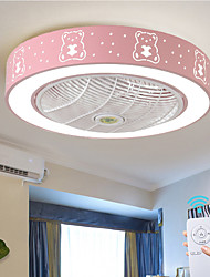 cheap -1-Light 58 cm Creative Ceiling Fan Metal Painted Finishes Nordic Style 110-120V / 220-240V / FCC