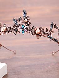 abordables -Alliage Diadèmes avec Perle fausse / Fleur 1 Pièce Mariage / Anniversaire Casque